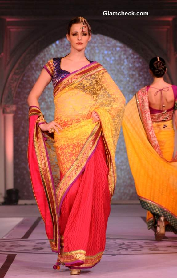 Sarees at Rajguru Fashion Parade show 2013 Bangalore