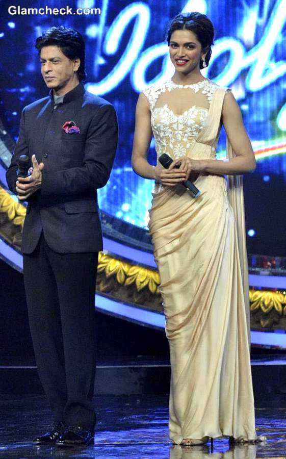 Shahrukh Khan Deepika Padukone Indian Idol Jr to Promote Chennai Express