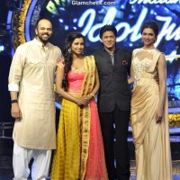 Shahrukh Khan Deepika Padukone on Indian Idol Jr to Promote Chennai Express