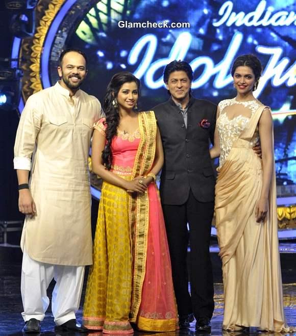 Shahrukh Khan Deepika Padukone on Indian Idol Jr to Promote Chennai Express
