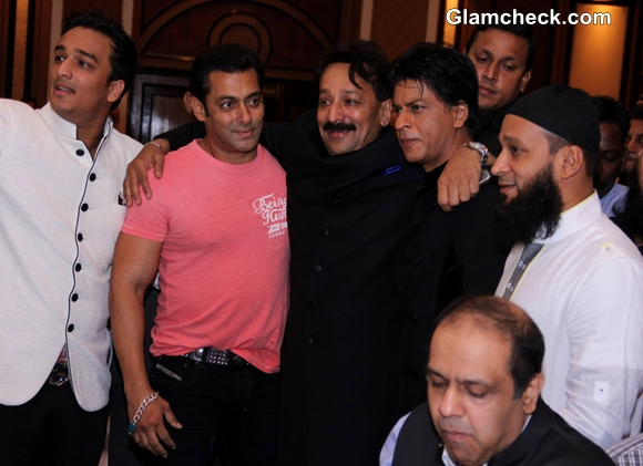 Shahrukh Khan Salman Khan Embrace at Iftar Party