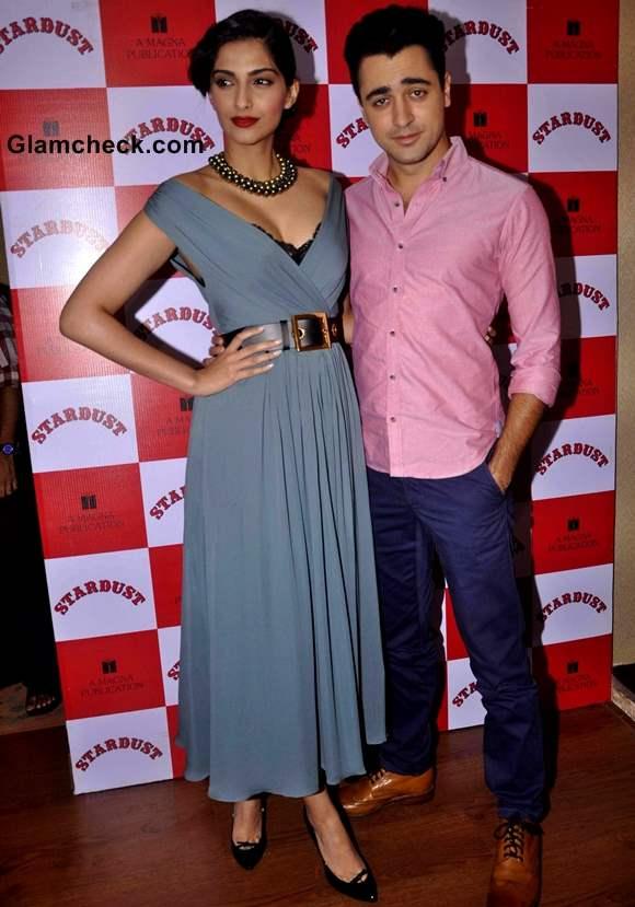 Sonam Kapoor Imran Khan at Stardust Cover Launch