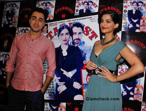 Sonam Kapoor and Imran Khan Stardust Cover Launch