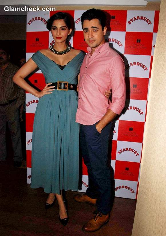 Sonam Kapoor with  Imran Khan Stardust Cover Launch
