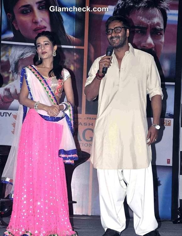 Ajay Devgan and Amrita Rao promote Satyagraha