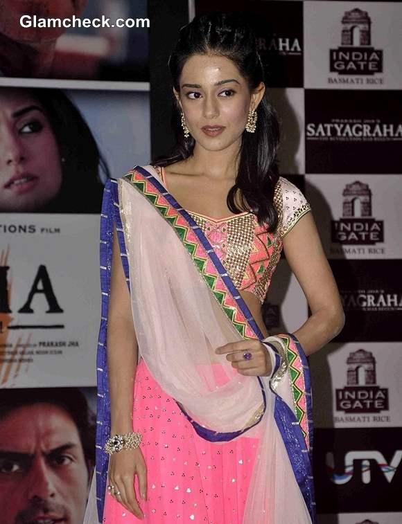Amrita Rao promotes Satyagraha