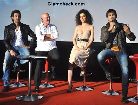 Cast of Krrish 3 Launch Trailer in Mumbai