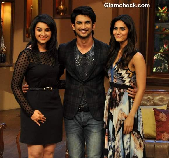 Cast of Shudh Desi Romance on Comedy Nights Kapil