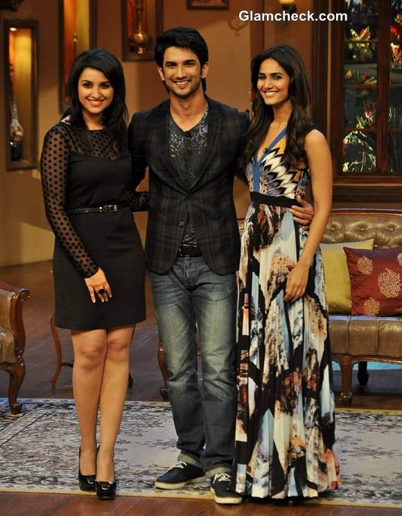 Cast of Shudh Desi Romance on Comedy Nights with Kapil