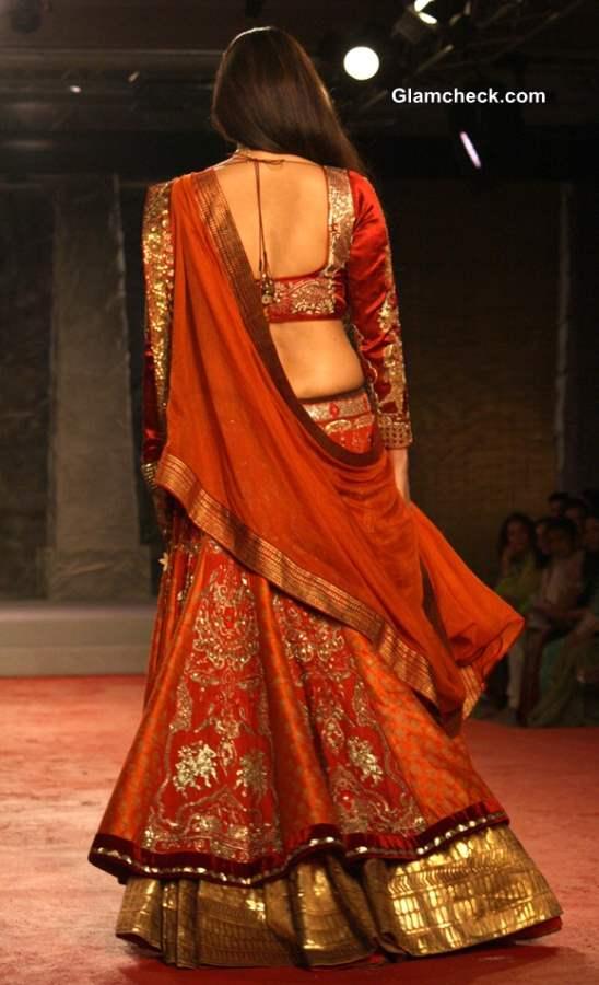 Delhi Couture Week 2013 Anju Modi Lehenga Collection
