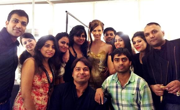 Delhi Couture Week 2013 Gaurav Gupta Backstage Team Gaurav Gupta