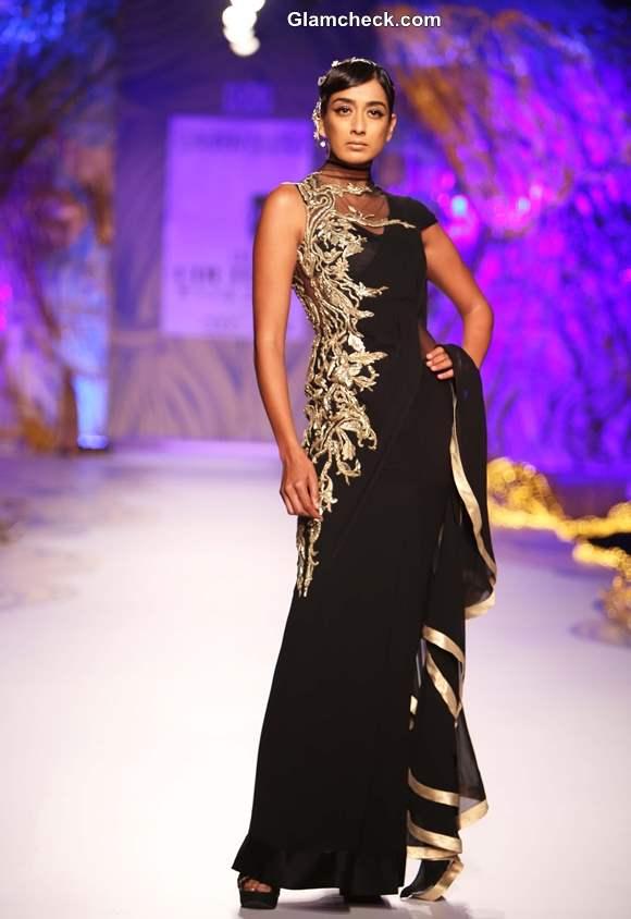 Delhi couture week 2013 gaurav gupta Sari-Gown collection