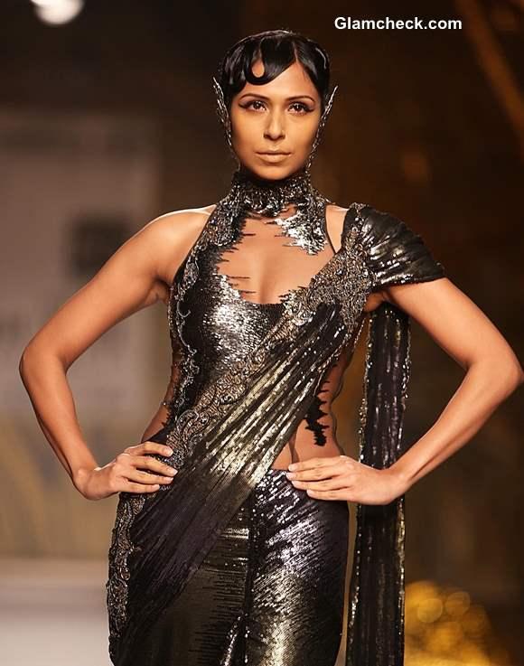 Delhi couture week 2013 gaurav gupta collection Sari-Gown