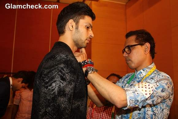 Designer Troy Costa during fittings at Lakme Fashion Week winter festive 2013