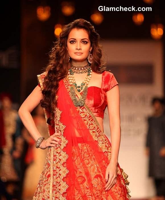 Dia Mirza for Shyamal and Bhumika LFW Winter-Festive 2013