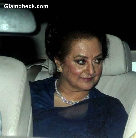 Dilip Kumar with wife Saira Banu at Shahrukh Khan  Eid Ul Fitr Party