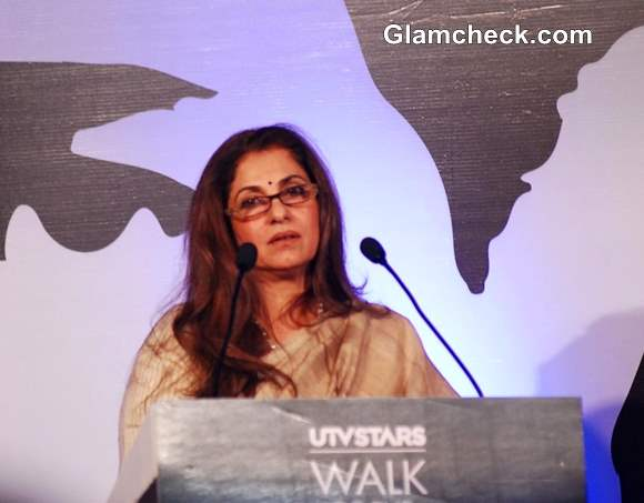 Dimple Kapadia at unveiling of  Bronze Statue of Late Rajesh Khanna