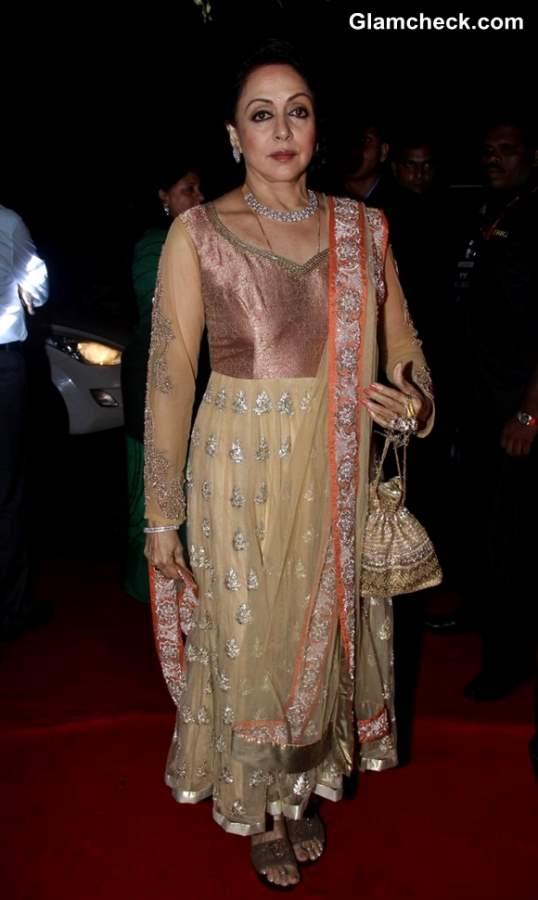 Hema Malini at Sridevi 50th Birthday Bash