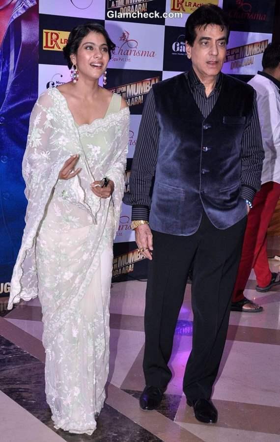 Kajol and Jeetendra at Ekta Kapoor Iftar Party
