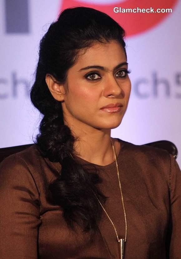 Kajol hairstyle makeup 2013