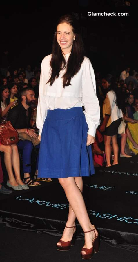 Kalki Koechlin at Lakme Fashion Week Winter Festive 2013