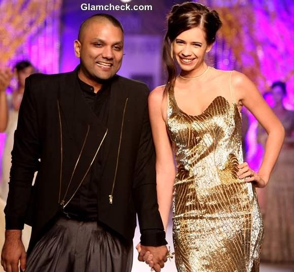 Kalki Koechlin walks the ramp for Gaurav Gupta at Delhi Couture Week 2013