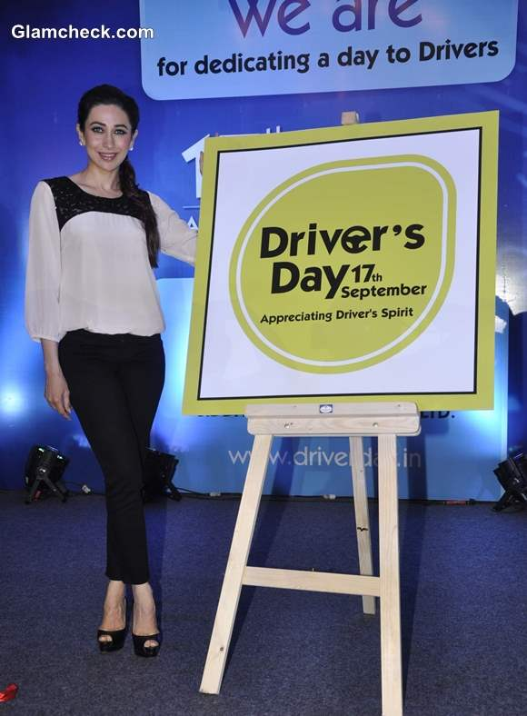 Karisma Kapoor Launches Drivers Day Campaign