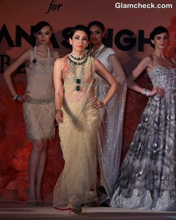 Karisma Kapoor for Ghanasinghs Couture Collection 2013
