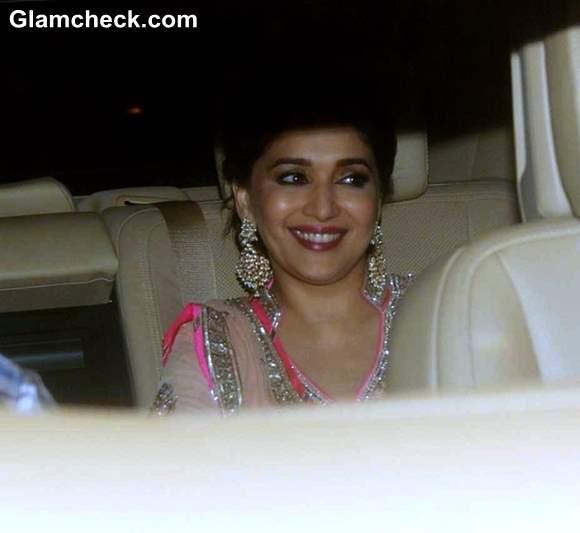Madhuri Dixit at Shahrukh Khan  Eid Ul Fitr Party