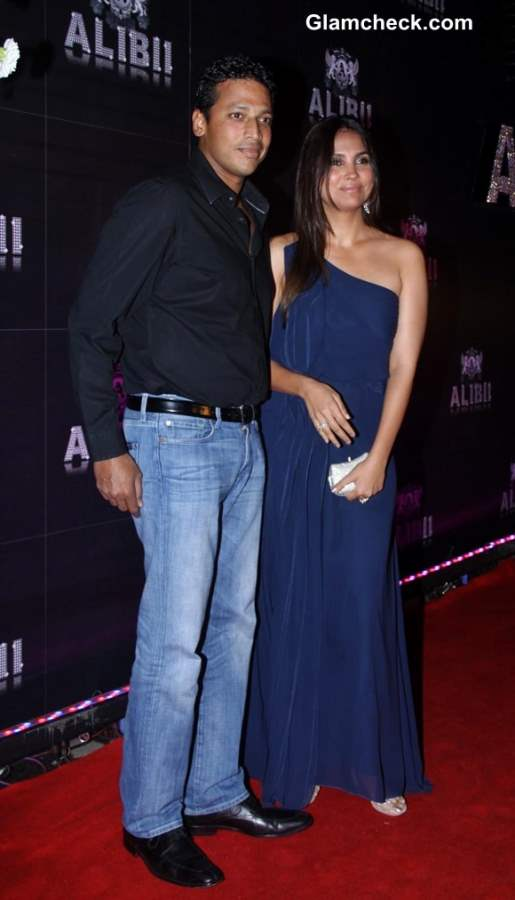 Mahesh Bhupathi with wife Lara Dutta at Sridevi 50th Birthday Bash