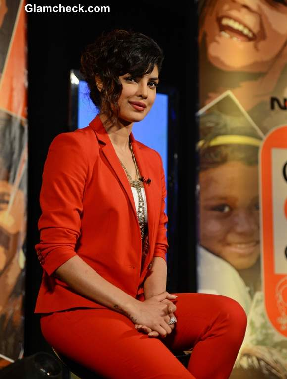 Priyanka Chopra 2013 at NDTV Vedanta Our Girls Our Pride Campaign
