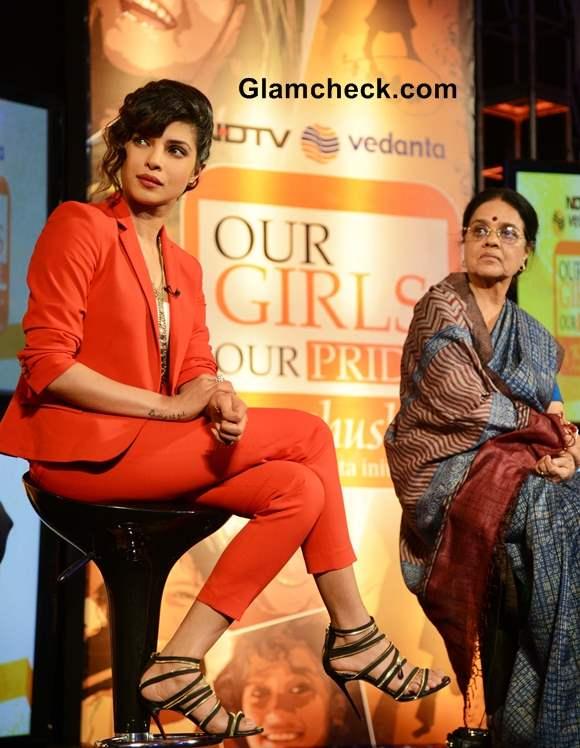 Priyanka Chopra Ambassador for NDTV Vedanta Our Girls Our Pride Campaign