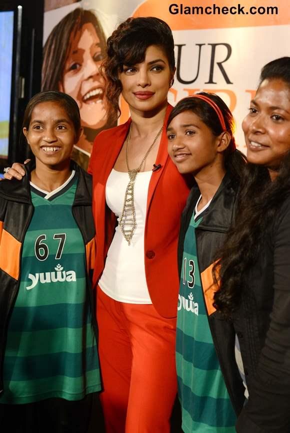 Priyanka Chopra at NDTV Vedanta Our Girls Our Pride Campaign