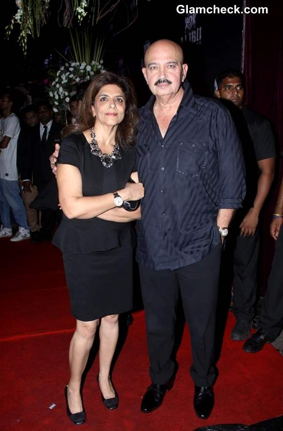 Rakesh Roshan with wife Pinky Roshan at Sridevi 50th Birthday Bash