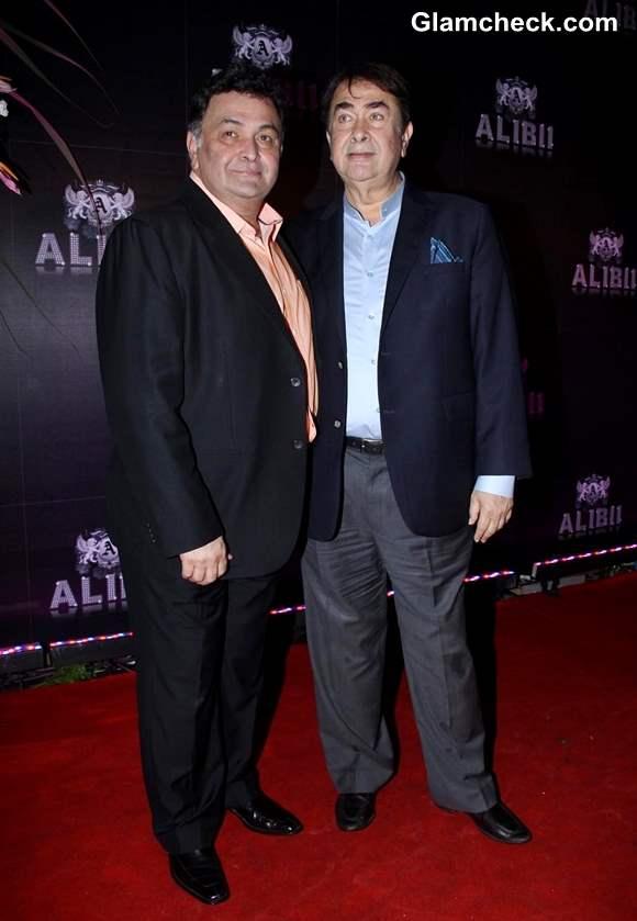 Randhir Kapoor and Rishi Kapoor at Sridevi 50th Birthday Bash