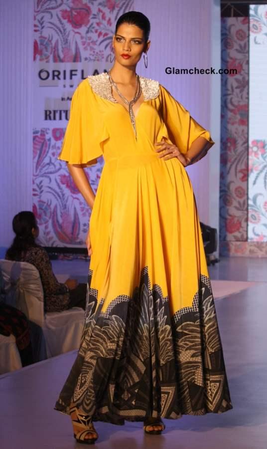 Ritu Kumar for Oriflame catalogue pics