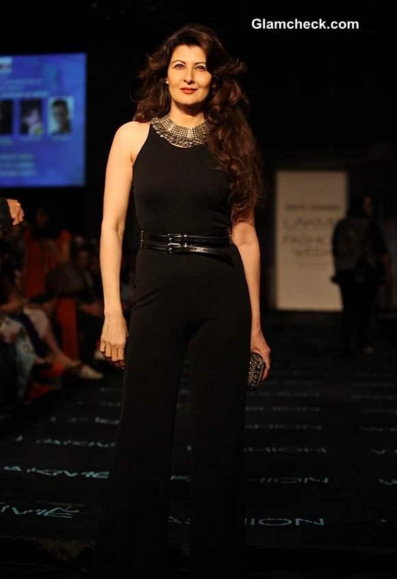 Sangeeta Bijlani at Lakme Fashion Week Winter-Festive 2013