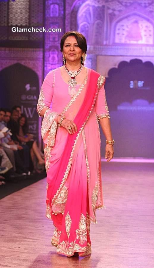 Sharmila Tagore  IIJW 2013 for Birdhichand Ghanshyamdas Jewellers