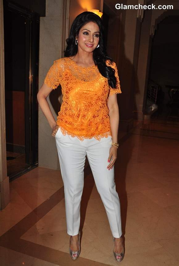 Sridevi casual in pants and top