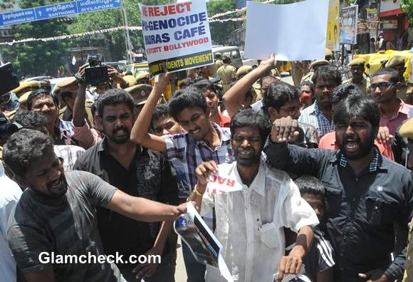 Students Protest Against Release of John Abrahams Madras Cafe In Chennai