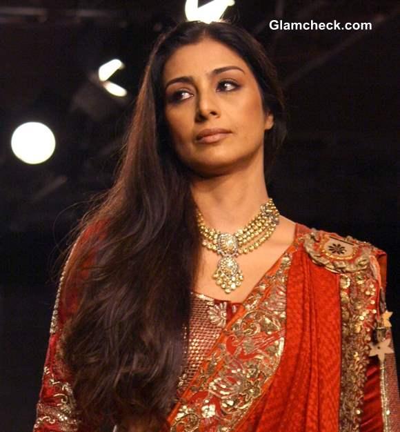 Tabu for Anju Modi at Delhi Couture Week 2013 Day 1