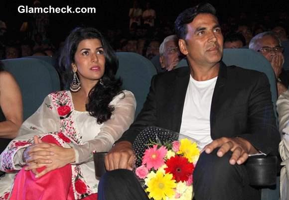 Akshay Kumar Nimrat Kaur 2013 Launch 4th Jagran Film Festival