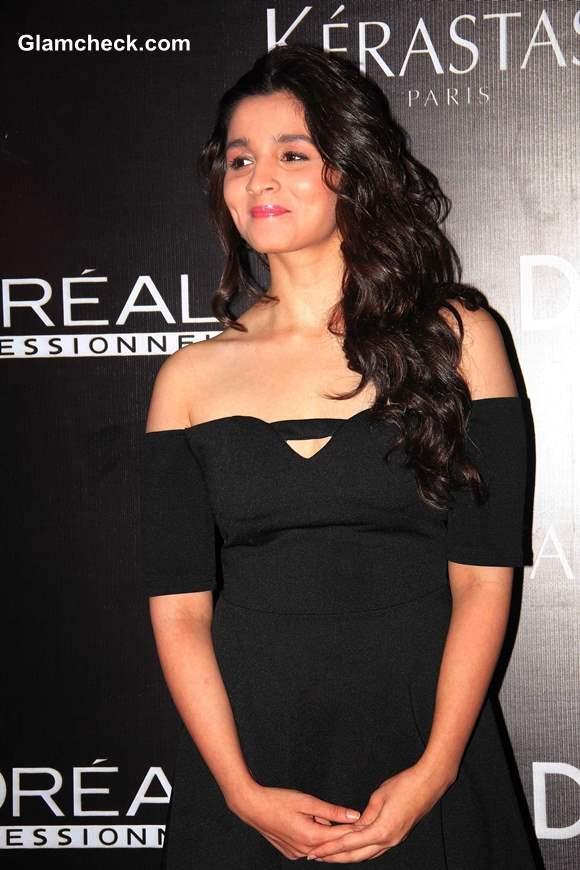 Alia Bhatt in Little Black Dress at Dessange Beauty Salon Launch