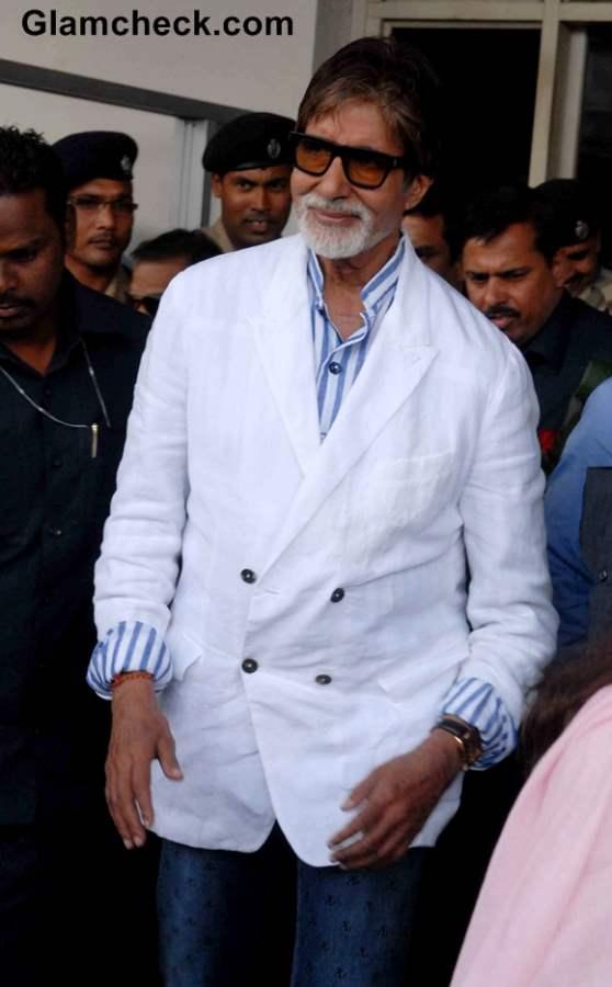 Amitabh Bachchan at Rajasthan to Celebrate Padmini Devi 70th Birthday