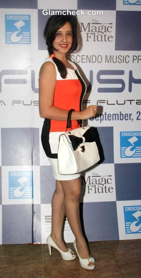Amy Billimoria at Ronu Majumdar Fusion Album Magic Flute Launch