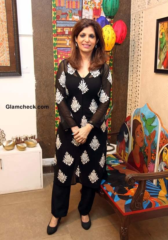 Artist Bina Aziz at Baaya Design Charity Exhibition-Auction