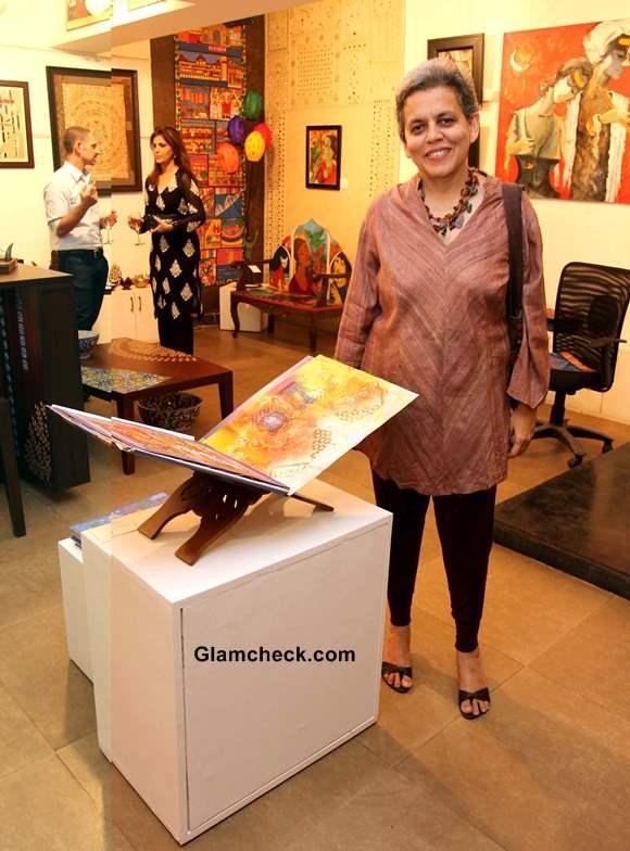 Artist Brinda Miller at Baaya Design Charity Exhibition-Auction