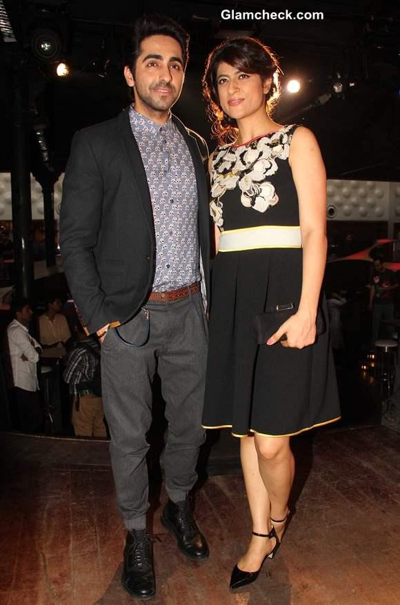 Ayushmann Khurrana with his wife 2013