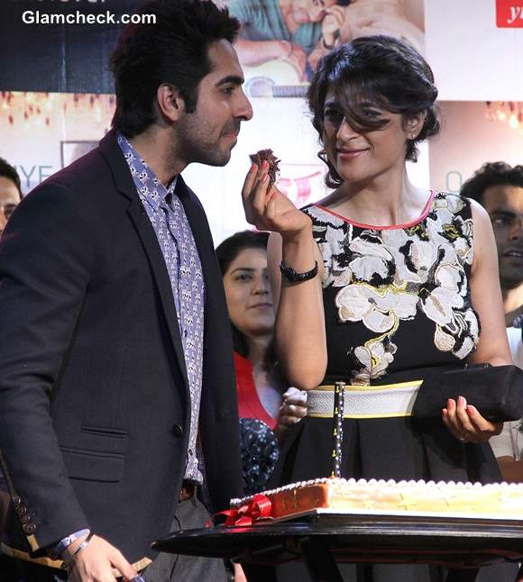 Ayushmann Khurrana with his wife on his Birthday