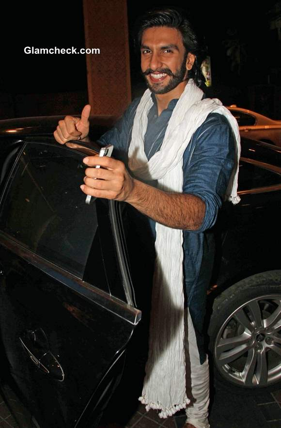 Celeb Spotting - Ranveer Singh Seen at Mumbai J W Marriott